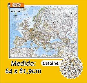 Mapa Mundi em Painel de Lona - Modelo 9