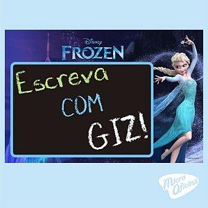 Quadro Negro - Lousa - Frozen - Elsa