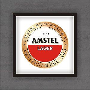 Quadro Decorativo Amstel Lager Com Moldura