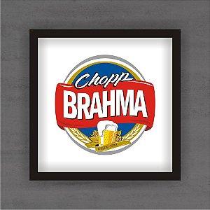 Quadro Decorativo Brahma Com Moldura