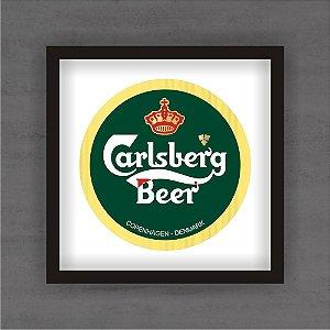Quadro Decorativo Carlsberg Com Moldura