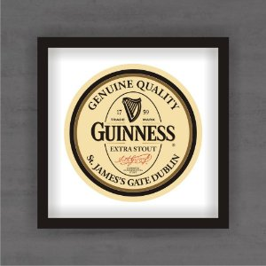 Quadro Decorativo Guinness Com Moldura