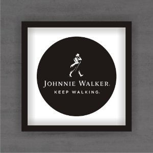 Quadro Decorativo Jhonnie Walker Com Moldura