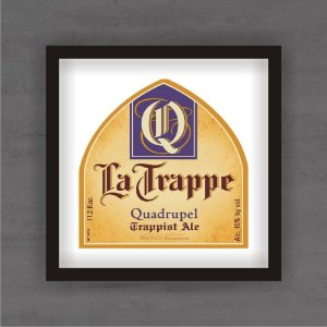 Quadro Decorativo La Trapper Com Moldura
