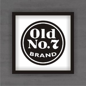 Quadro Decorativo OLD NO.7 Com Moldura