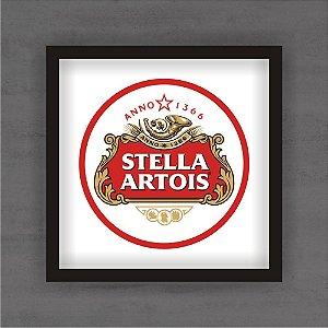 Quadro Decorativo Stella Redondo Com Moldura