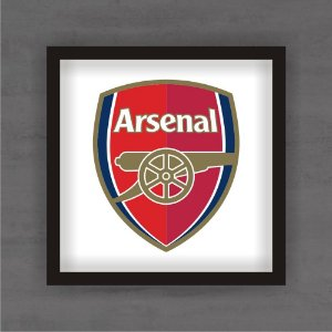 Quadro Decorativo Arsenal Com Moldura