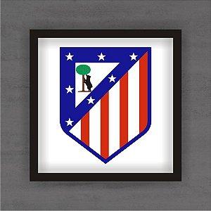 Quadro Decorativo Atlético de Madrid Com Moldura