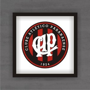 Quadro Decorativo Atlético Paranaense Com Moldura