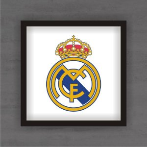 Quadro Decorativo Real Madrid Com Moldura