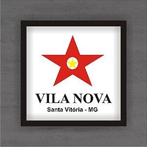 Quadro Decorativo Vila Nova Com Moldura