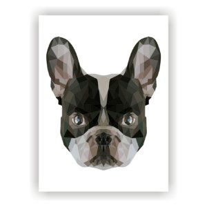 Quadro Decorativo Cachorro Mosaico Salas Quartos Paisagem
