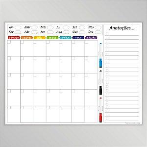 Quadro de Planejamento Mensal + Imã de Geladeira Semanal