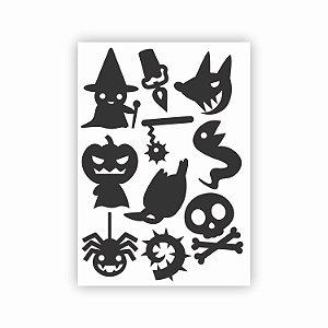 Cartela de Adesivos Halloween