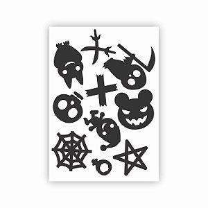 Cartela de Adesivos para Halloween 03