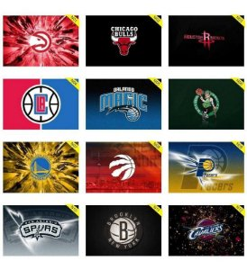 Quadros Placas Decorativas - Medida: 30 cm x 20 cm Basquete NBA