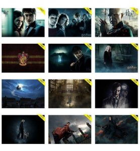 Quadros Placas Decorativas - Medida: 30 cm x 20 cm Harry Potter