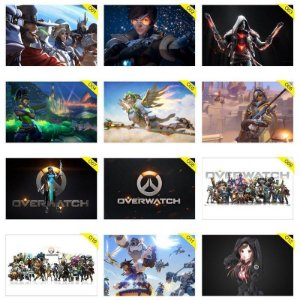 Quadros Placas Decorativas - Medida: 30 cm x 20 cm Overwatch