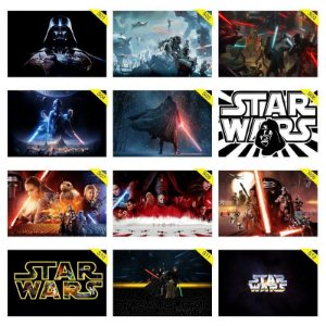 Quadros Placas Decorativas - Medida: 30 cm x 20 cm Star Wars - Guerra nas Estrelas