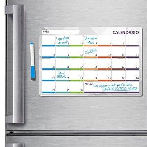 Ímã de geladeira porta recados planner 20 X 30cm - Escolha!