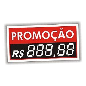 Etiqueta de preço em vinil 5 dígitos 50 unidades vermelho