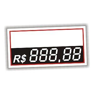 Etiqueta de preço em vinil 5 dígitos 50 unidades branco