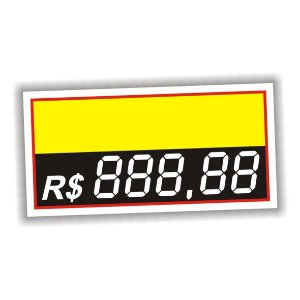 Etiqueta de preço em vinil 5 dígitos 50 unidades amarelo