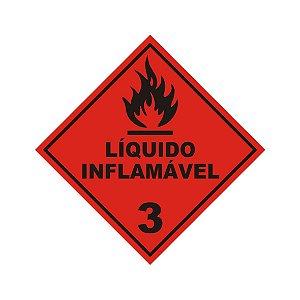 60 adesivos etiqueta líquido inflamável 3 - Produtos Perigosos