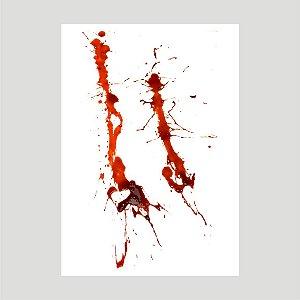 Lançamento Adesivo Halloween Mancha De Sangue A4 Mod05