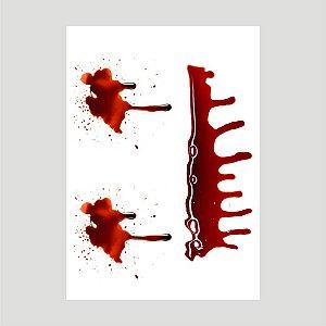 Lançamento Adesivo Halloween Mancha De Sangue A4 Mod03