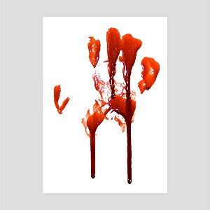 Lançamento Adesivo Halloween Mancha De Sangue A4 Mod01