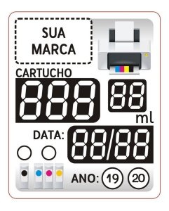 200 Etiqueta Cartucho Adesivo 3 Dígitos Vinil Prova Dágua