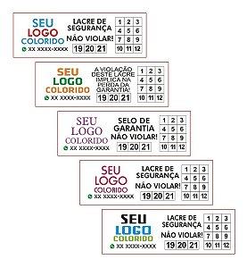 2000 Etiqueta Lacre Casca De Ovo 3 X 1cm Numeradas