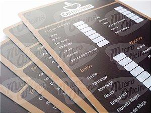 Cardápio Personalizado Em Pvc Restaurante Bar Lanchonete