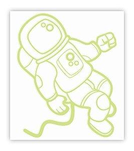 Adesivo Brilha No Escuro Astronauta 20 Cm X 22,2 Cm