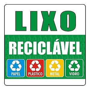 Kit 3 Adesivos Lixo Reciclável E Não Reciclável Condomínio