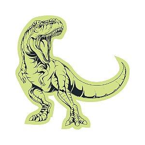 Adesivo Brilha No Escuro Tiranossauro Rex Dino 49cm X 49cm