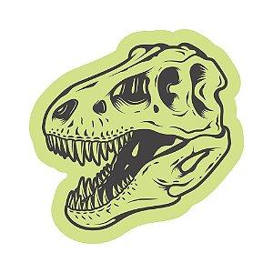 Adesivo Brilha No Escuro Cranio Dinossauro Dino 49cm X 49cm