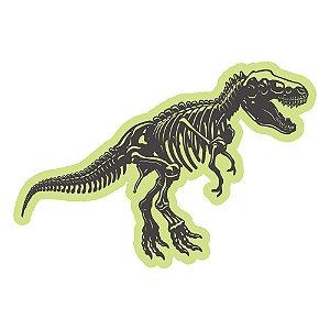 Adesivo Brilha No Escuro Tiranossauro Dino 49cm X 33cm