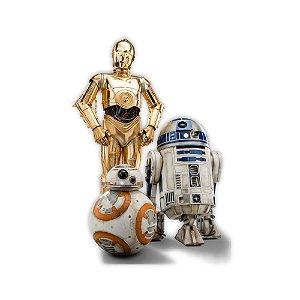 Adesivo Decorativo 3 Droids Star Wars - 64cm x 90cm