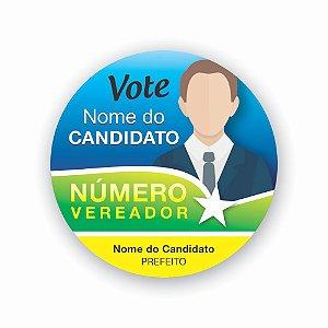 DUPLICADO - 500 Adesivos Campanha Política Praguinhas Em Vinil 5x5cm