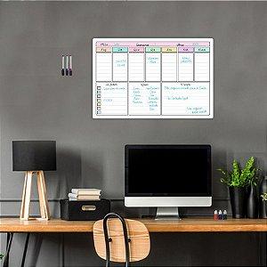 Quadro Planejamento Mensal Planner Diario Tarefas MOD03
