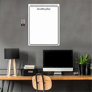 Quadro Planejamento Mensal + 3 Canetas Suporte Caderno 02