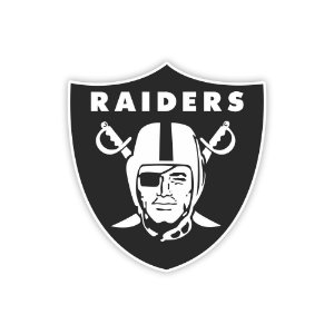 Quadro Decorativo NFL Futebol Americano Oakland Raiders