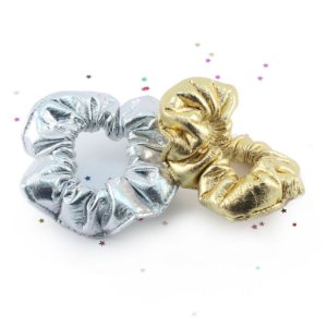 Scrunchie Metallic - 2 Cores