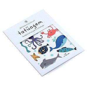 Tatuagem Temporária para Crianças - Fundo do Mar
