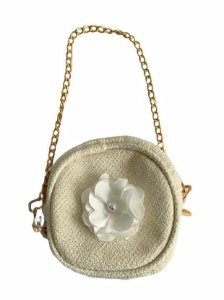 MINI BOLSA TWEED CREME - Simba Lovers