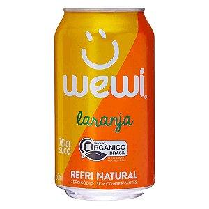 Refrigerante orgânico de laranja 350mL - Wewi