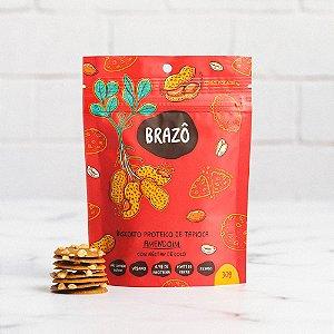 Biscoito proteico sabor amendoim com néctar de coco 30g - Brazô