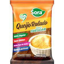 Queijo ralado vegetal sabor cheddar 50g - Sora